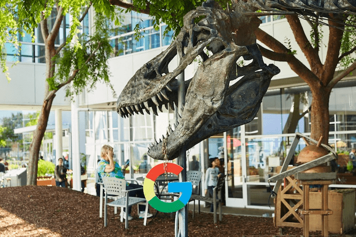 Dinosaurier (Stan) beim Googleplex Source: Google