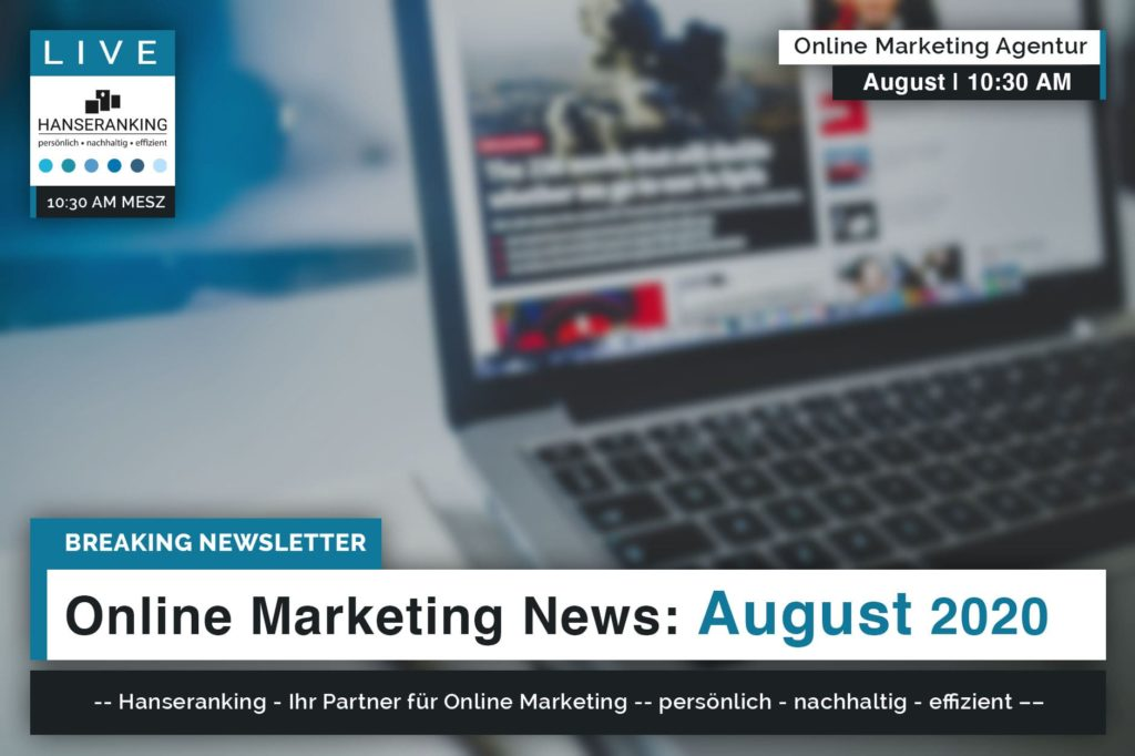 Online Marketing News August