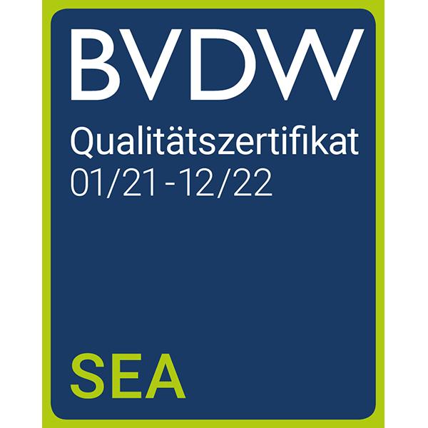 BVDW - SEA Qualitätszertifikat