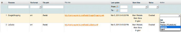 Google Shopping Datenfeed in Magento